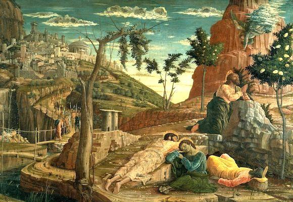 Jesus Lehrt Seine Jünger Auf Dem ölberg