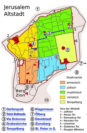 Jerusalem Karte Deutsch.Christliches Zentrum Auf Dem Zion